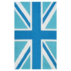 Blue Union Jack Rug from the Rug Market