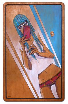 """Espejito, Espejito"" / Mirror, Mirror   Painting Series by César Moreno of Golpeavisa"