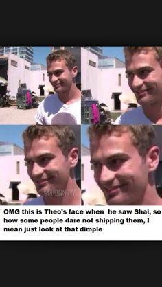 OMG that face xD xD he's like.ohh yes Disney Divergent, Divergent Memes, Divergent Fandom, Divergent Trilogy, Divergent Insurgent Allegiant, Tris And Tobias, Tris And Four, Be With You Movie, Veronica Roth