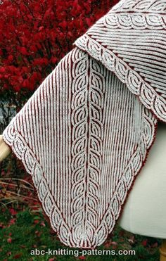 Free brioche Shawl Knitting Pattern