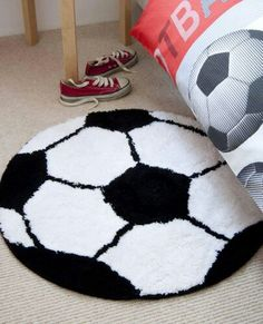 Voetbal Soccer Bedroom, Football Bedroom, Kids Bedroom, Soccer Boys, Kids Sports, Soccer Gifts, Awesome Bedrooms, New Room, Room Interior
