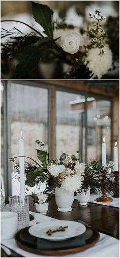 Winter wedding floral designed by Minneapolis wedding florist Artemisia Studios. Photos by Studio 29 Photography. #flowers #floral #weddingfloral #headtable #weddinginspiration #weddingideas #weddingdecor #minnesotaweddingflorist #artemisiastudios