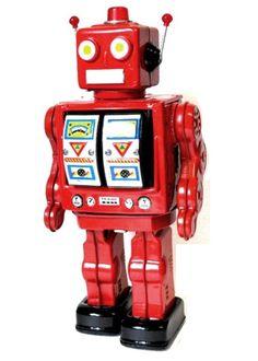 toy robots | Online catalogue | Tin Toys | Tin toy Battery Robots