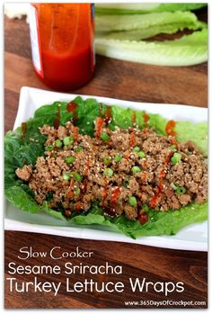 365 Days of Slow Cooking: {Easy} Slow Cooker Korean Beef Lettuce Wraps