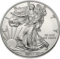 2013 - 1 oz. American Eagle Silver Bullion Coin - Obverse Side