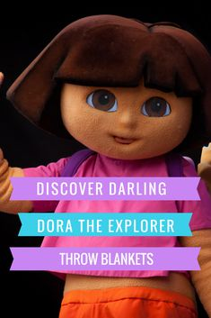 Dora The Explorer throw blankets delight her little fans and keep them warm and cozy. Let your little explorer cuddle up in a Dora The Explorer blanket to watch her favorite show.