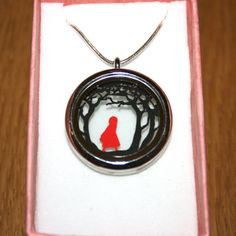 Red Riding Hood Papercut Pendant by StudioCharley on Etsy, £20.00