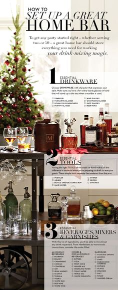 Set Up a Great Home Bar | Pottery Barn