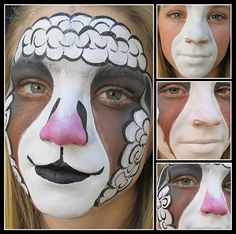 MAKEUP: I think this looks pretty good for some sheep makeup. This way i wont need a nose.