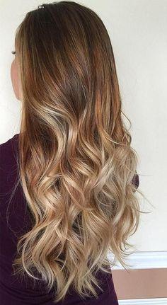 brown blonde ombre hair #Prettyhair