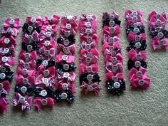 instead of buying bows for bid day bags, we could just ask a few sisters who love making bows to work on them over summer