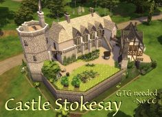 Houses and Lots: Castle Stokesay - no CCby Velouriah from Mod The Sims Sims 4 House Design, Sims 4 Build, Sims 4 Houses, My Kind Of Town, The Sims4, Sims 4 Mods, Sims 4 Custom Content, Models, Sims Cc