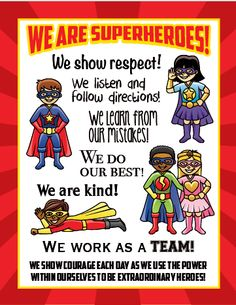 Super Effective Program Teaches Children Of All Ages To Read. Superhero School Theme, Superhero Preschool, School Themes, Superhero Party, Classroom Themes, Superhero Behavior Chart, Teaching Letters, Teaching Kids, Teaching Grammar