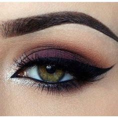 ღ Makeup Look ft. Chocolate Bar Palatte ღ ❤ liked on Polyvore featuring beauty products, makeup, eye makeup, eyes, eyeshadow, glitter eye makeup, glitter eye liner, glitter eyeliner and ardell