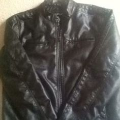 REAL LEATHER JACKET Size XL. Real leather! Worn maybe twice. Jackets & Coats Jean Jackets