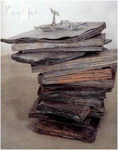 "Neo-Express, Anslem Keifer -""Naglfar"", installation: lead books and battleship, 1998"