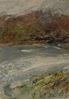 March winds, Isle of Skye. Pastel Paintings, Seascape Paintings, Landscape Paintings, Landscape Photos, Abstract Landscape, Abstract Art, Ocean Shores, Mark Making, Light And Shadow