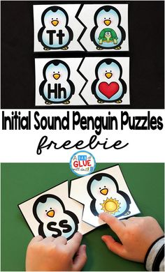 Initial Sound Penguin Puzzles Initial Sound Penguin Puzzles is the perfect addition to your literacy centers this winter. This free printable is great for preschool and kindergarten students. Kindergarten Centers, Preschool Literacy, Kindergarten Reading, Kindergarten Freebies, Preschool Jungle, Montessori Classroom, Preschool Education, Preschool Themes, Initial Sounds