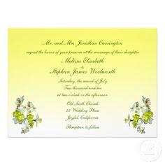 Yellow Floral Wedding Invitation