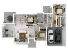 Очаровательная планировка трехкомнатной квартиры