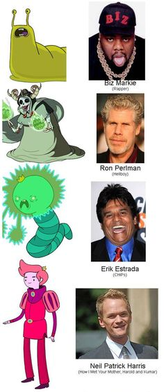 """25 Actors You Might Not Have Known Did Voices On """"Adventure Time"""" @angelasalazar & @pandalove!!"""