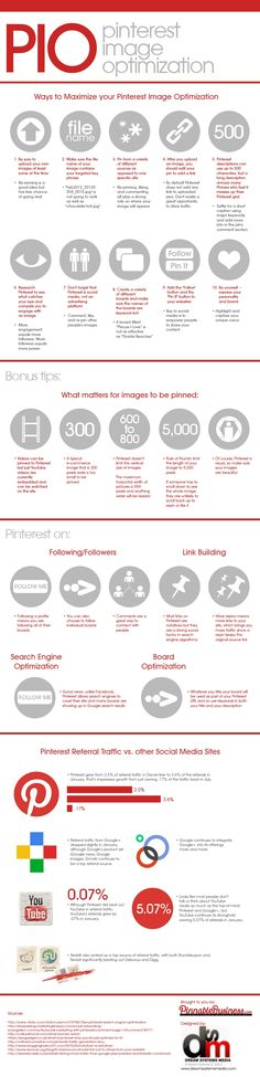 23 #Pinterest Image Optimization and #SEO Pinning Tips #infographic
