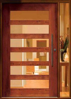 Entry Door- primed and paint with bright color… – Decor İdeas Fence Doors, Wood Entry Doors, Wooden Doors, Door Entry, Front Door Locks, Front Doors, Interior Design Institute, Modern Door, Internal Doors