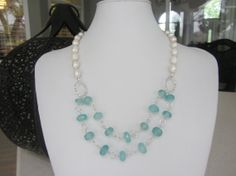 Unique Custom Designed Cultured Pearl And by JKCustomDesigns, $80.00