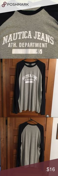 Unisex nautical long sleeve tee This shirt is so comfy made of 95% cotton. It is an XL . natuical Jeans Tops Tees - Long Sleeve