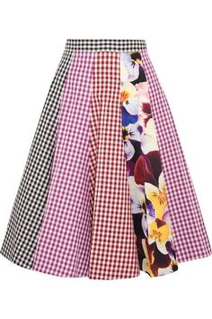Christopher Kane | Gingham cotton-twill midi skirt | NET-A-PORTER.COM