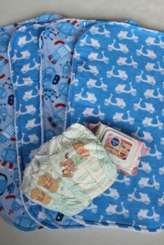 Sew Delicious: Things for Baby Boys (A Virtual Baby Shower) - Baby Change Mat Liners Flannelette and toweling.