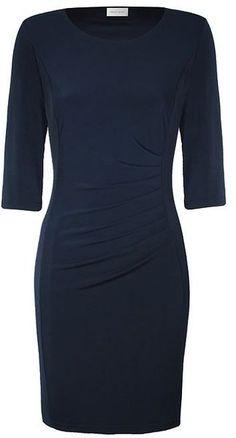 Minuet Petite Navy Pleat Detail Jersey Dress in Blue (navy) - Lyst