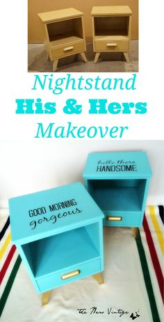 Craigslist Nightstand Makeovers ~ His and Hers Glam