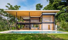 Glass house with two breath-taking views: towards the ocean and into the jungle - CAANdesign | Architecture and home design blog