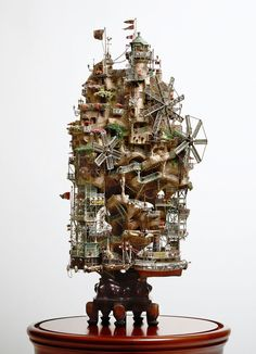 Incredibly Elaborate Tiny Building Sculptures by Takanori Aiba - Id love to own one of these.