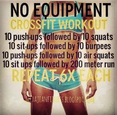 No Equipment #crossfit #workout