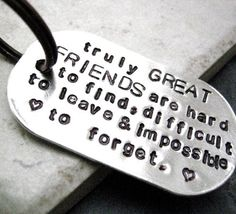 Truly Great Friends Quote Key Chain great gift for by riskybeads
