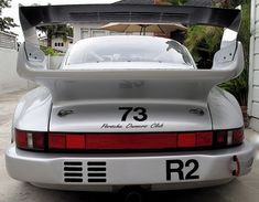 1988 Porsche 930 Turbo Race Car For Sale Silver Engine < Whatta beast! 2300lbs? TAIL OUT.