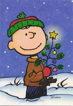 Charlie Brown et son sapin - Cette illustration pourrait faire la base d'un très joli projet de Noël!