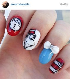 Dr. Seuss cat in the hat nails