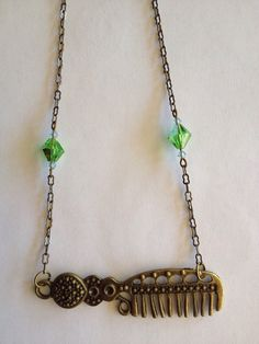 Comb Necklace. N00387 by SugarDoveJewelry on Etsy