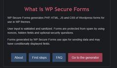 WP Secure Forms - Wordpress Ajax Forms Generator