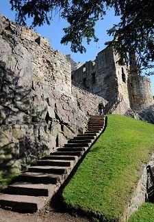 The Garden Steps at Dirleton Castle, Ediburgh UK