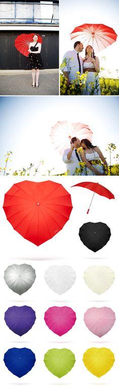 I ❤ You | heart-shaped-umbrellas