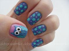 Owl nails, cute! nails