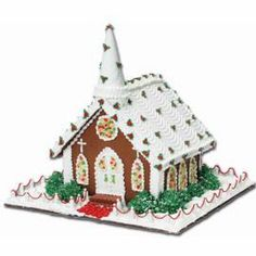 "Pre-Baked Gingerbread House Kit gets you started on building this house for Holiday Worship. From the ice cream cone steeple to the jellied candy ""stained glass"" windows, this is sure to draw the faithful."