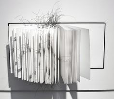 'Book Marks' : Artist Book, Pen & Ink with Black Wire, Sketch Book, 2014