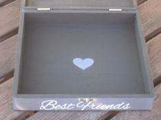 Best Friends Photo Collage Keepsake Box Unique Maid of Honor