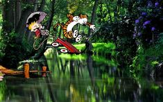 Someone on Reddit created several scenes in which Calvin and Hobbes were Photoshopped into real photos. This blog has several, and they're amazing! They speak to Watterson's art.