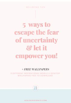 Uncertainty is inevitable in life and can cause stress and anxiety. Here's 5 lessons I learnt when embracing uncertainty & make it work for me. Anxiety Tips, Stress And Anxiety, Seo Tips, Lifestyle Changes, Wellness Tips, Life Inspiration, Social Media Tips, Suddenly, 5 Ways